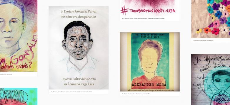 Conoce el movimiento en México: Ilustradores con Ayotzinapa